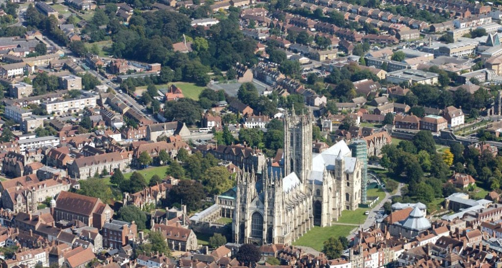 Canterbury Kent. An area covered by Metromix Concrete Suppliers