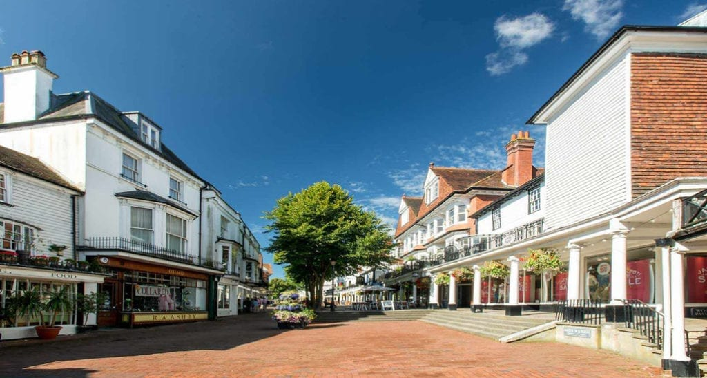 Tunbridge Wells. An area covered by Metromix Concrete Suppliers
