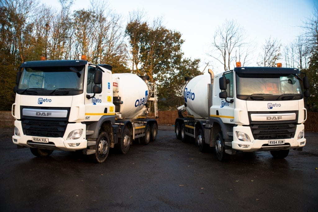 Ready mix concrete fleet offering same day delivery across Kent